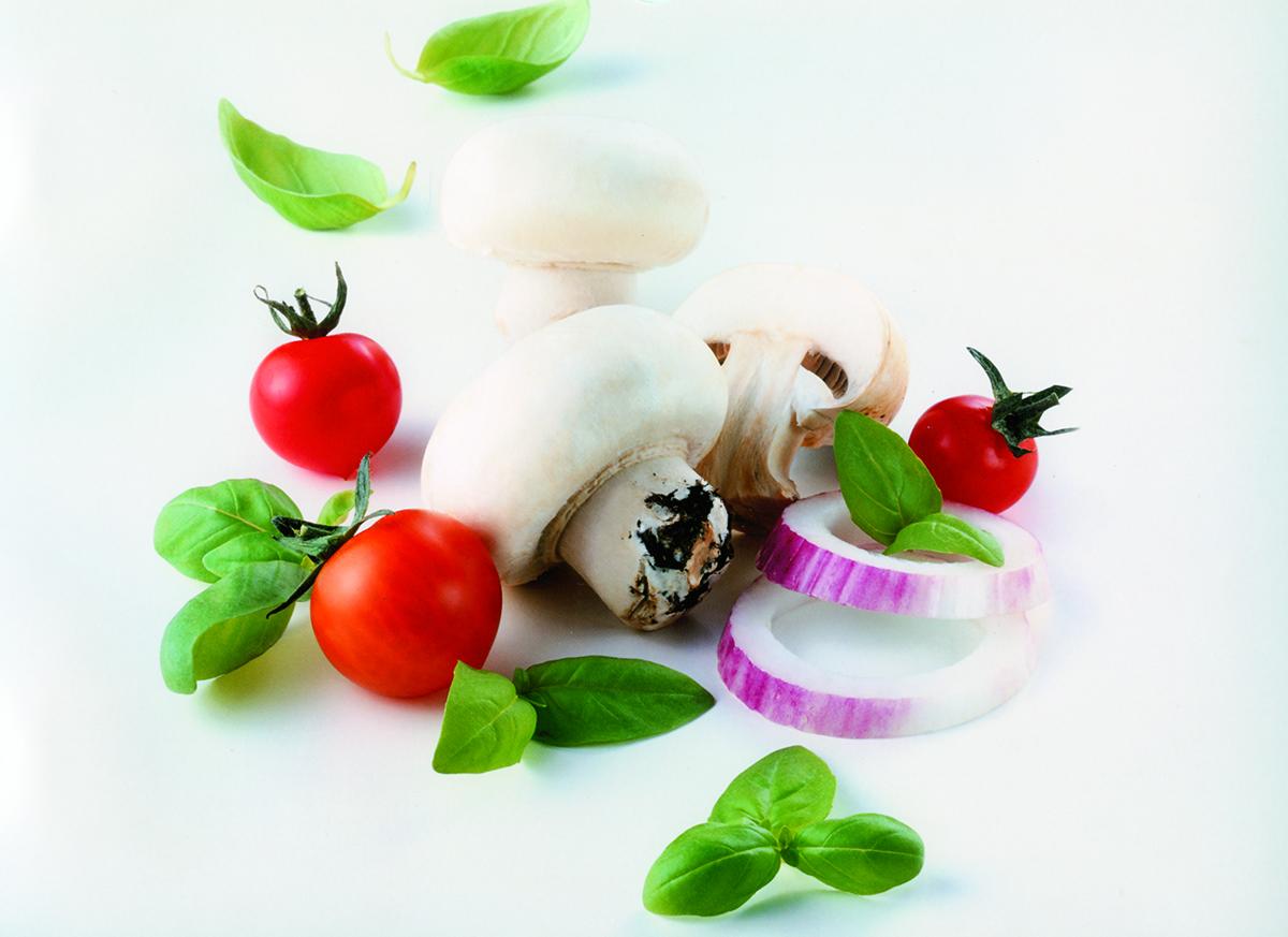 Funghi e basilico